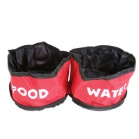 Collapsible  Convenient Travel  Food  Water Dog Double Bowl
