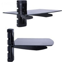 China wholesale price best quality tempered glass shelf support tv wall mount