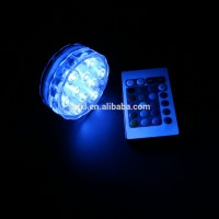 10 LEDs Multi-color Remote control submersible vase light /2.8 inch LED remote control light for fish tank