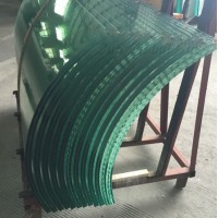 Customer approved high quality Jumbo size tempered curved glass price