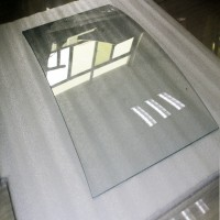 Special professional curved glass roof panels