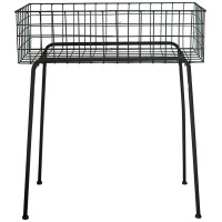 Garden outdoor indoor modern floor 2 tiers rectangular metal wire mesh plant stand display
