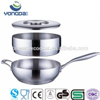 Rosle Stainless Steel Flat Bottom Non Stick Flying Pan Fly Pan