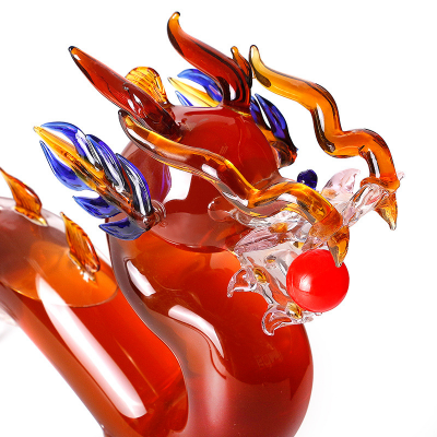 Carved Dragon Glass