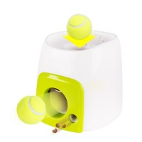 Food Reward Machine For Dogs With Tennis Ball Interactive Fetch